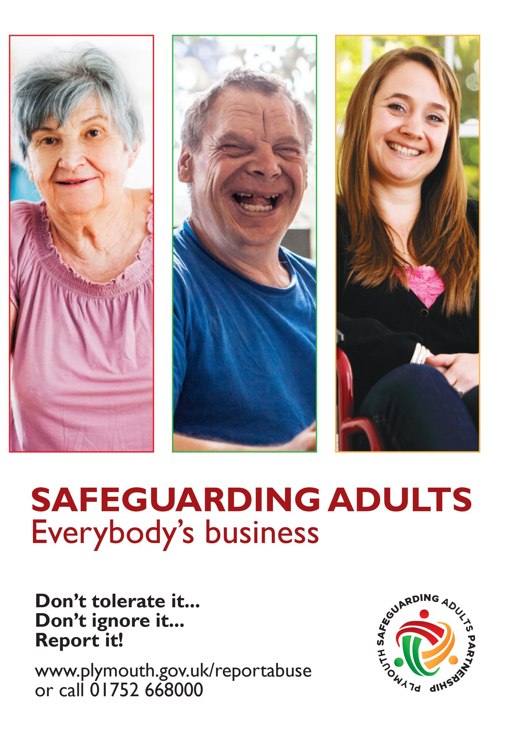 Plymouth Adult Safeguarding Leaflet Front Cover