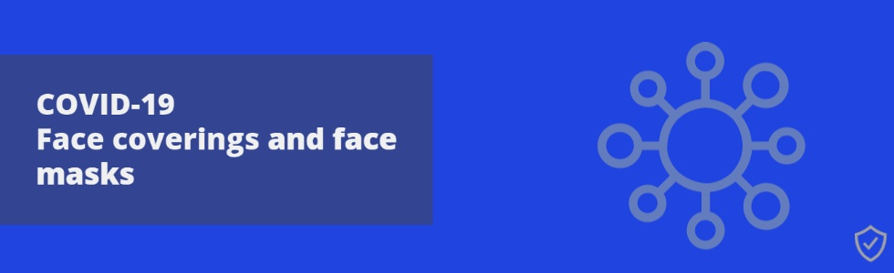 COVID-19 Face Covering and Face Mask Promotional Banner
