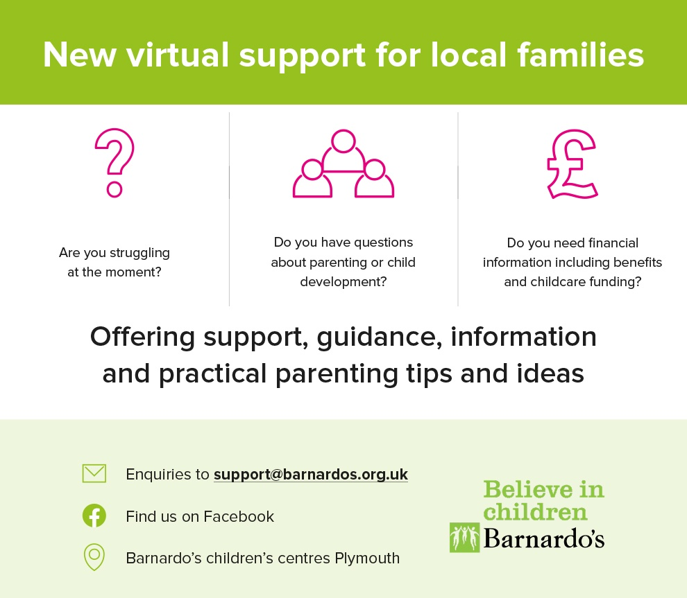 Barnardos Virtual Support Hub Promotional Banner