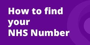 Find Your NHS Number Promotional News Banner