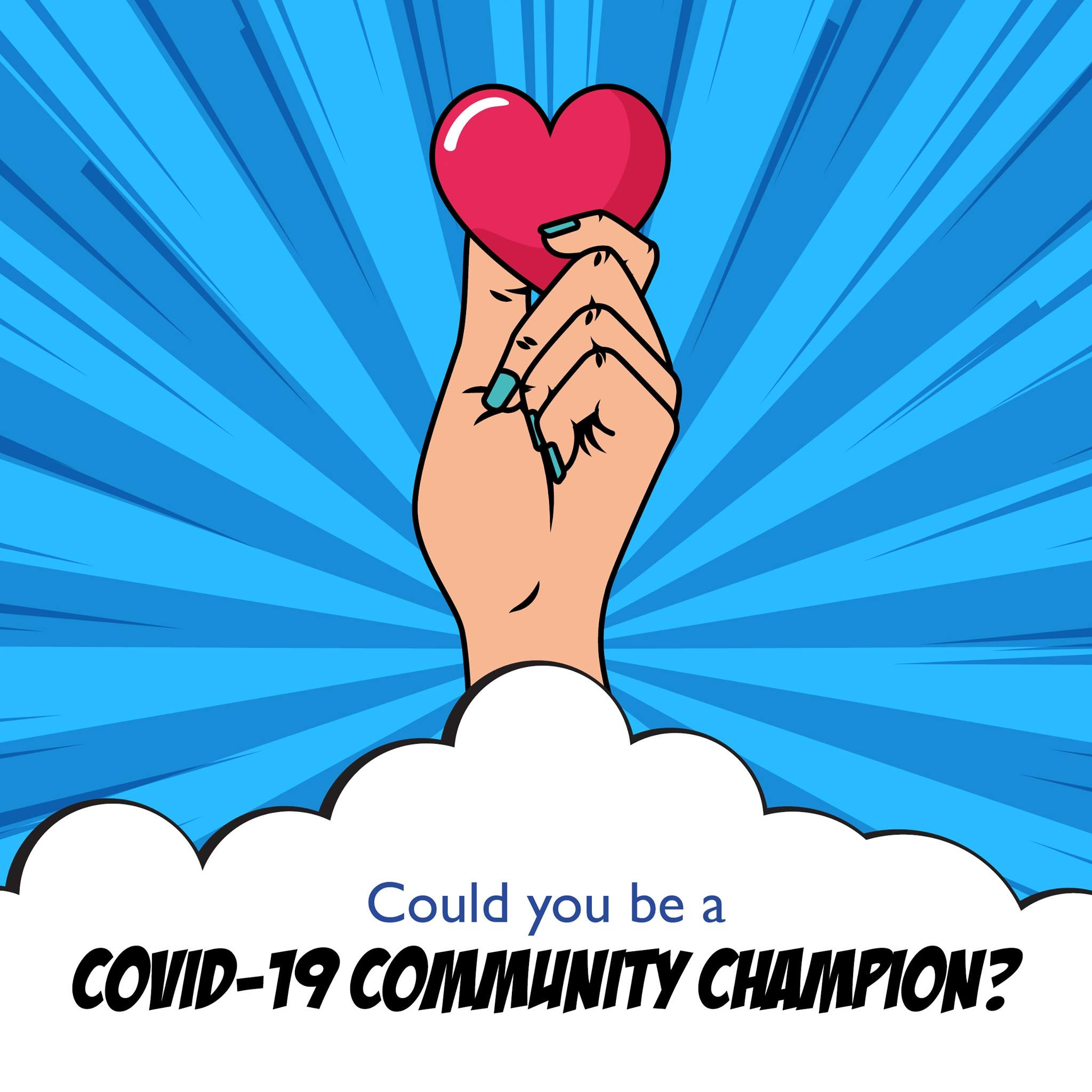 COVID-19 Community Information Champion Promotional Banner