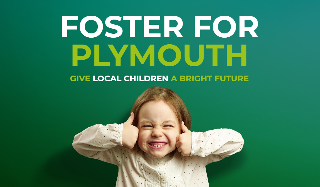 Foster for Plymouth Promotional Banner. Give Local People A Bright Future.